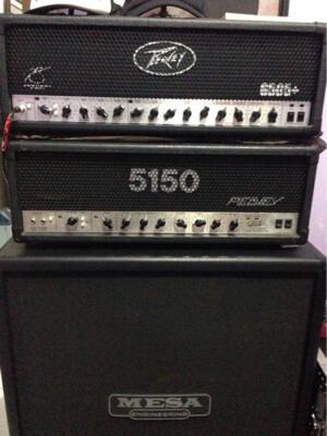 Head Amp Peavey 6505+ & Mesa Boogie Rectifier Cabinet