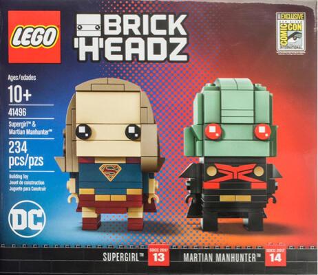 LEGO 41496 BRICKHEADZ Supergirl & Martian Manhunter