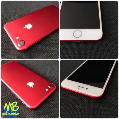 iPhone 7 RED 256GB masih garansi fullset original, green peel