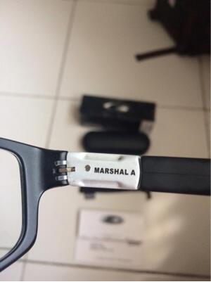 Frame Kacamata Oakley Marshal Satin Black Original