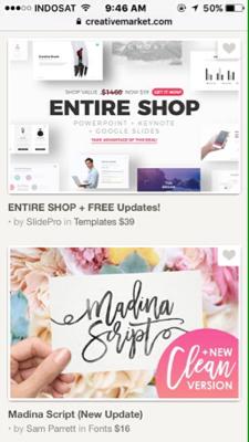 Beli di web Creativemarket