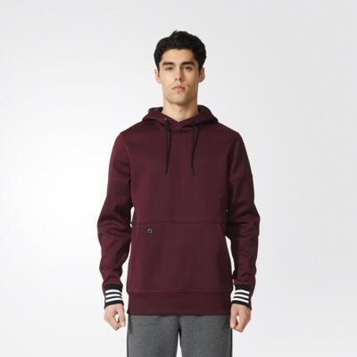 Adidas Men Hommes ID Pullover Hoodie Maroon Original
