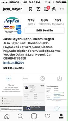 Jasa Pembayaran PayPal (Verified Seller)