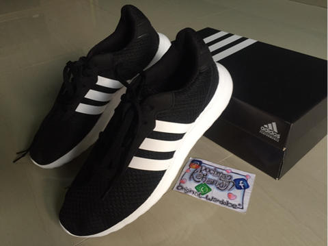 Sepatu Running Adidas Neo Cloudfoam Speed II Black White Original murah  cikarang c68c128901