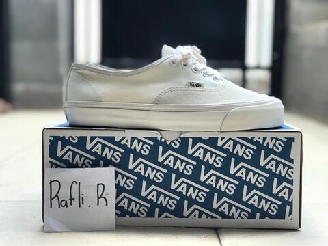 e920c6751d Terjual Vans Vault OG Authentic LX Egret   Cloud Dancer ( All White ...