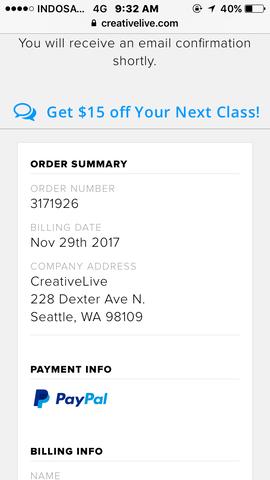 Order di Creativelive