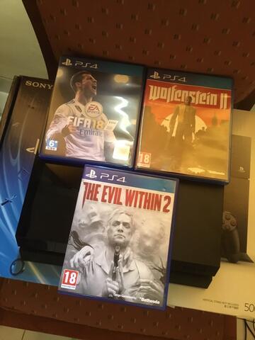 Playstation 4 [FIFA 18, EVIT WITHIN 2, WOLFENSTEIN 2]