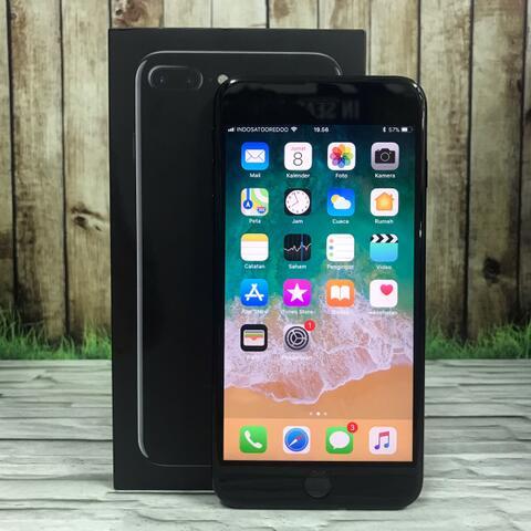 iPhone 7 Plus 128GB Jet Black Mulusss Fullset Original inter sing ZP