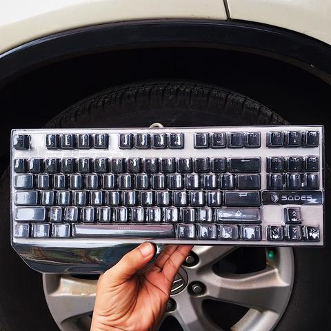 Sades Karambit TKL Mechanical Keyboard - Blue Switch KAILH Blue LED