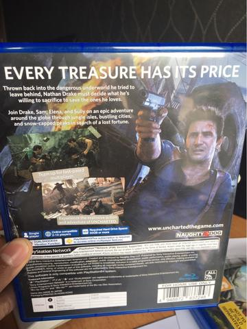 Game PS4 Original Uncharted 4