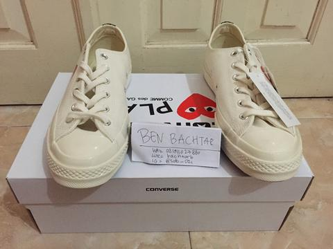 Converse CT 70s x CDG Play White Low / comme des garcons