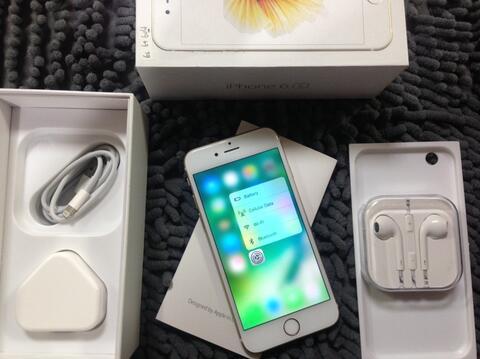 Terjual iPhone 6s 64Gb Gold fu fullset no minus mesin aman imei sama ... 35e6e643dd