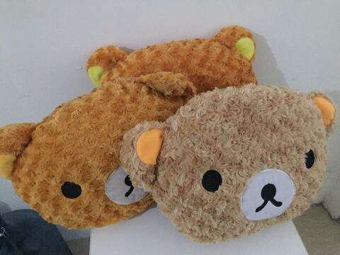 Terjual boneka bantal kepala rilakkuma murah  a6450a51fc