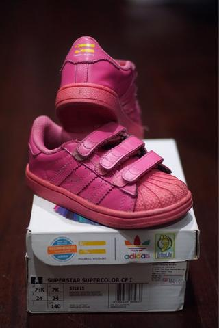 28dd9da2f9cc4 78fc0 43f71  free shipping original adidas superstar pharell williams pink  for kids anak 451a7 d49e1