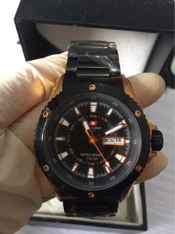 Terjual Jam Tangan Pria Original SWISS ARMY AS 0125 ME diameter 42mm ... ab7de85728