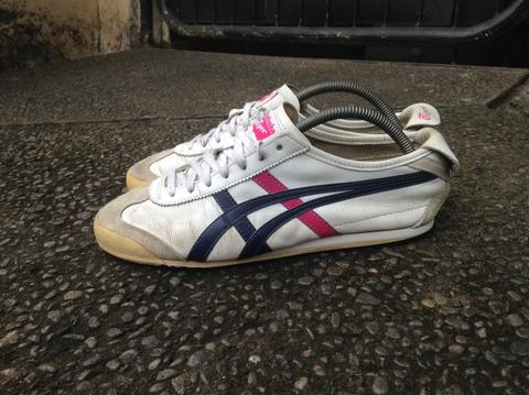 buy online 276e8 196e9 [SECOND-100% ORIGINAL] Onitsuka Tiger Mexico 66 White/Navy/Pink size 43.5  muraaahh...