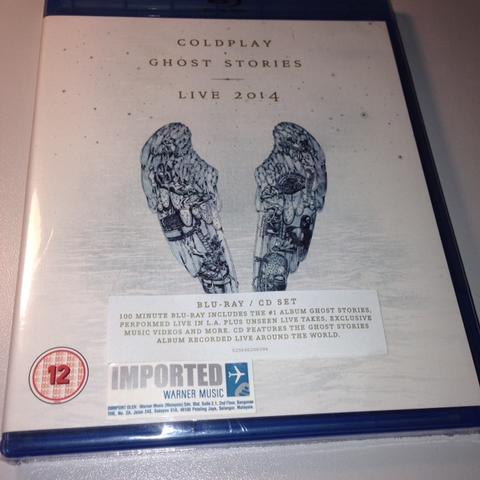 SALE NEW BLURAY ORIGINAL COLDPLAY GHOST STORIES + CD LIVE 2014