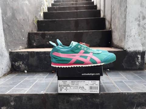 Onitsuka Tiger Mexico 66 Slip On Green List Pink