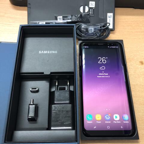 Samsung Galaxy S8 Plus Duos 64GB Black Muluss Good condition Garansi resmi SEIN