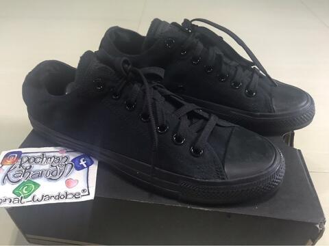Jual Sepatu Converse Ox Chuck Taylor Mono Black  Full Black Murah ... d1b8cbed51