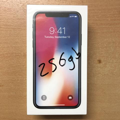 iPhone X - 10 256GB Space Gray BNIB non aktivasi Garansi inter 1thn