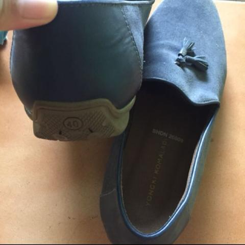Terjual sepatu yongki komaladi navy  82dbac4944