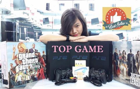 Dijual Playstation 2 (ps 2) Fat Hdd 80gb Full Games + 2 Stik Getar