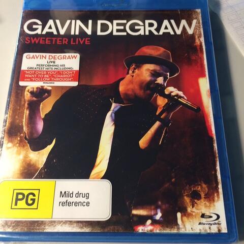 SALE NEW BLURAY ORIGINAL GAVIN DEGRAW SWEETER LIVE