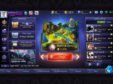 [VERIFIED SELLER] Akun Mobile Legends iOs Server Murah
