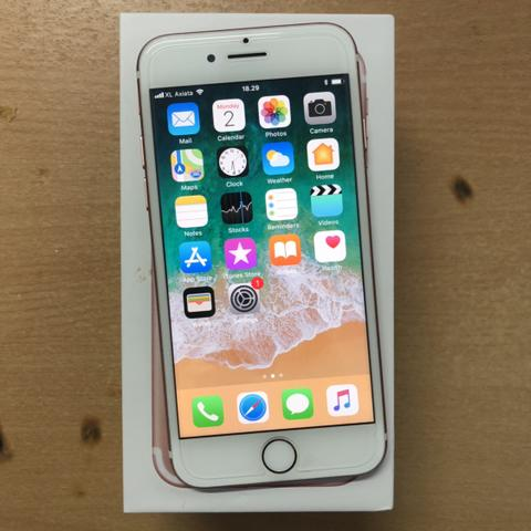 iPhone 7 32GB Rose Gold Muluss poll ex Garansi inter fullset