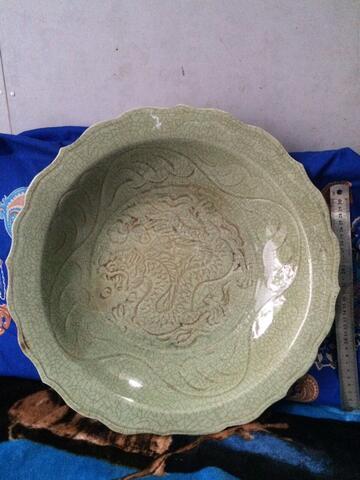 Piring Kuno Celadon Naga 1 00