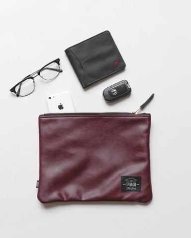 Taylor Fine Goods Pouch Daily Maroon