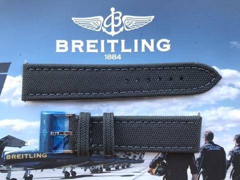 ORIGINAL BRAND NEW BREITLING MILITARY STYLE STRAP ANTHRACITE COLOR 22-20MM