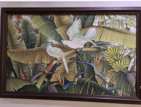Lukisan cat minyak dari Bali