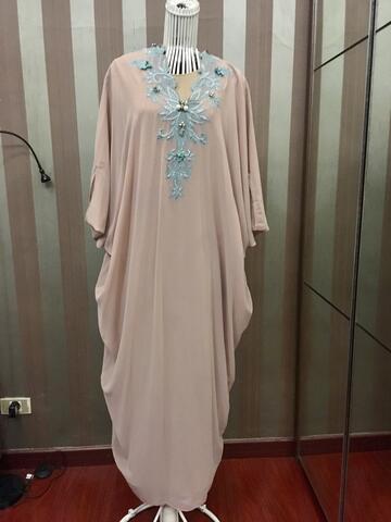 abaya dusty pink