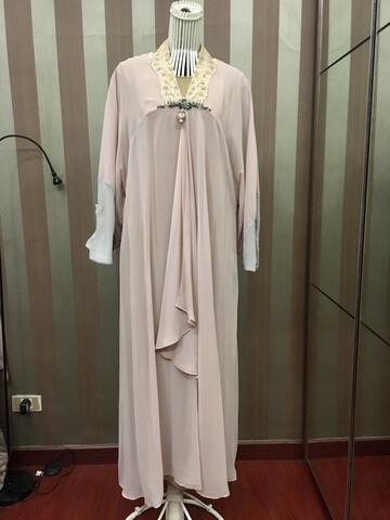 abaya baby pink