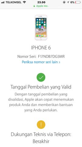 Dijual Cepat Iphone 6 Grey 64GB FU Ori Lengkap LTE