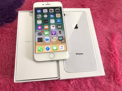 iPhone 8 64gb FU White Silver X/A Australi murah bgt Bandung Bdg putih anti rekond 64