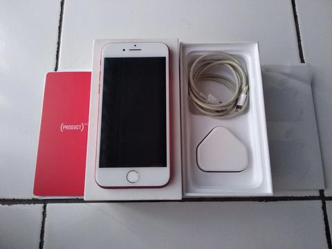 iPhone 7 Red Edition 128gb Fullset Mulus Singapore