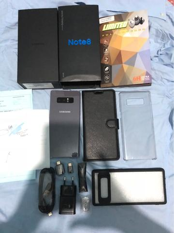 Samsung Galaxy Note 8 Orchid Gray Resmi SEIN Like New