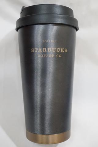 Starbucks Tumbler Black Gray Stainless Executive High Quality Grande