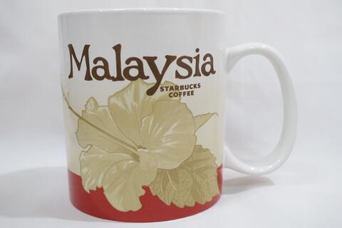 Starbucks Mug Gelas Glass Malaysia Red Iconic Version