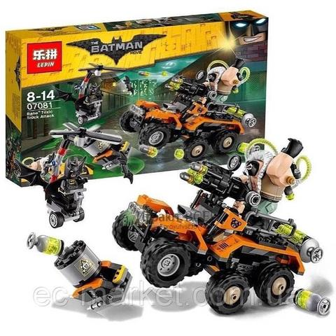 Lepin 07081-Ben's Highly toxic truck attack - Super Heroes