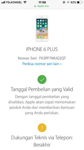 Dijual Cepat Iphone 6 plus 16GB Gold Fullset Ori LTE