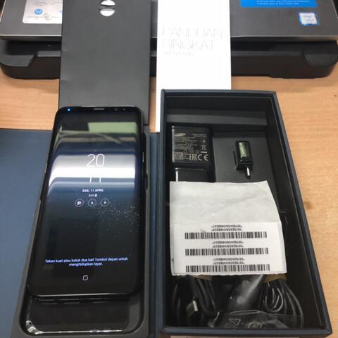 Samsung Galaxy S8 Plus Duos 64GB Black Super mulus Garansi resmi SEIN fullset