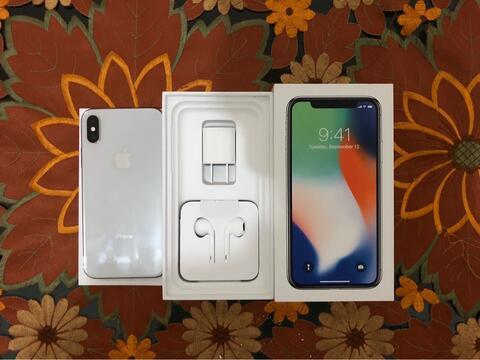 Iphone X 256gb silver second fullset