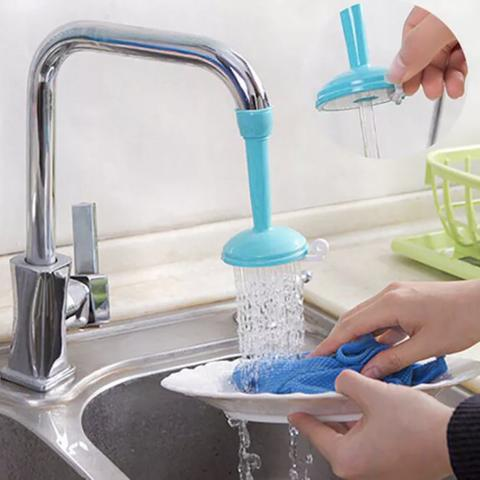 Sambungan Keran Kran Air Faucet Plastic Shower Head Water Saving Blue