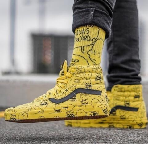 """Vans x Peanuts SK8 HI Reissue Jaune """"Charlie Brown"""""""