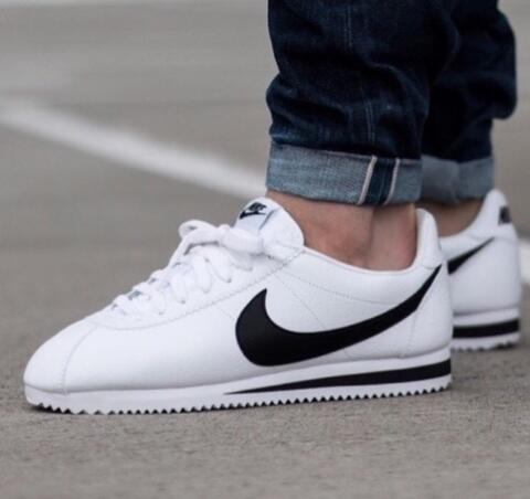 "Nike Air Classic Cortez Leather ""White Black"""