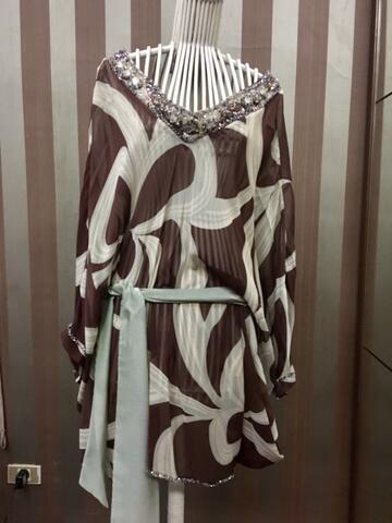 blouse panjang payet batuan